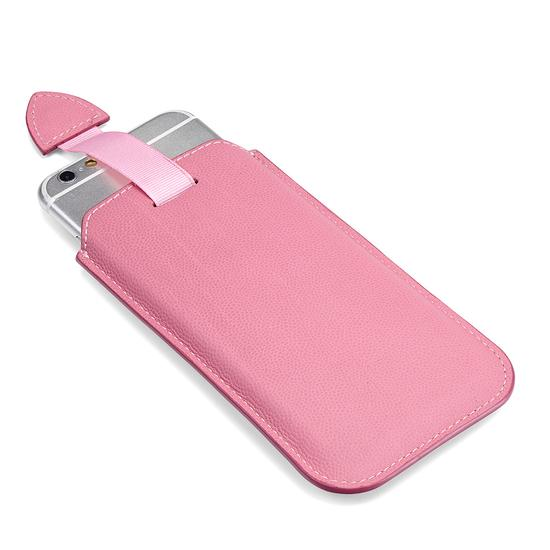 iPhone 6 / 7 Leather Sleeve in Blossom Kaviar & Blush Suede from Aspinal of London