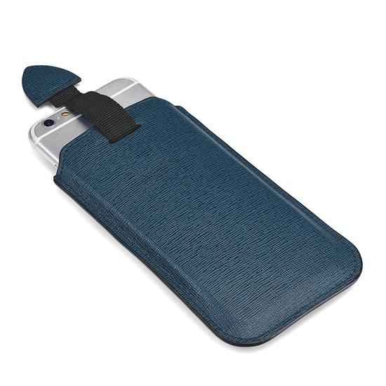 iPhone 6 / 7 Leather Case in Teal Saffiano & Black Suede from Aspinal of London