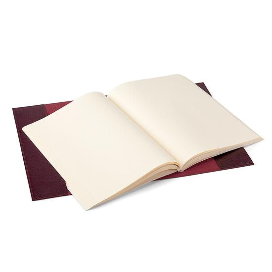 Saffiano A4 Refillable Leather Journal in Burgundy Saffiano from Aspinal of London