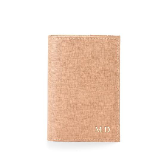 Saffiano Refillable Pocket Notebook in Deer Saffiano from Aspinal of London
