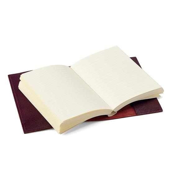 Saffiano Refillable Pocket Notebook in Burgundy Saffiano from Aspinal of London