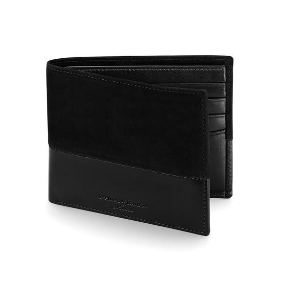 Shadow Billfold Wallet in Black Nubuck from Aspinal of London