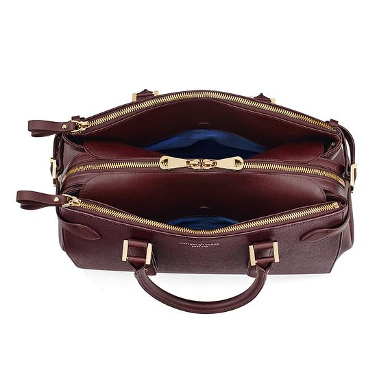 Brook Street Bag in Burgundy Saffiano from Aspinal of London