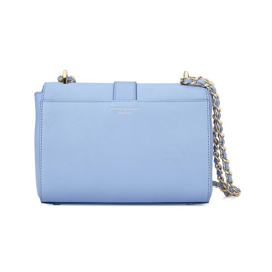 Small Lottie Bag in Misty Blue Kaviar from Aspinal of London