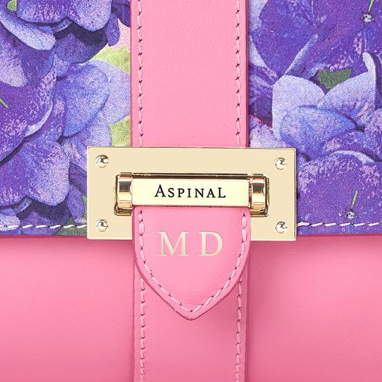 Beautiful Soul Lottie Bag in Smooth Blossom & Hydrangea Print from Aspinal of London