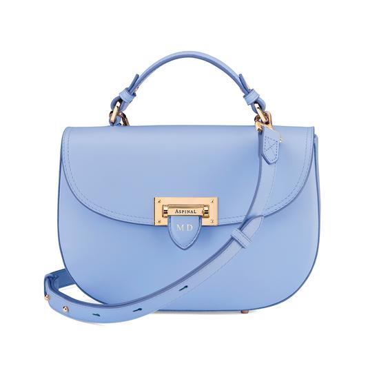 Letterbox Saddle Bag in Smooth Misty Blue from Aspinal of London