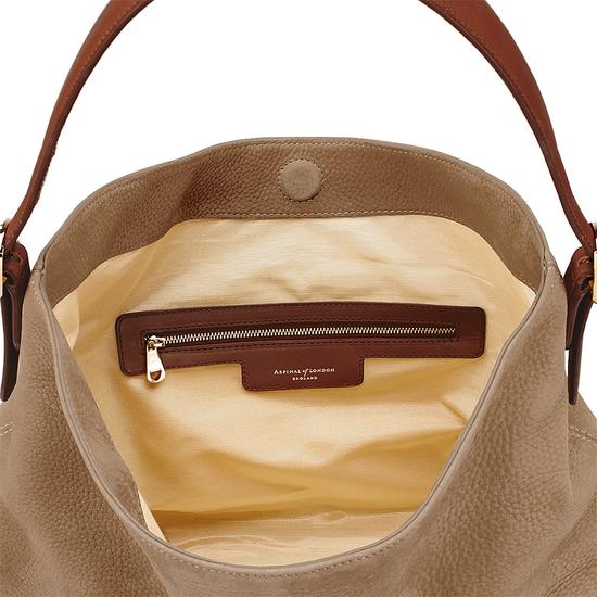 Aspinal Hobo Bag in Fog Nubuck from Aspinal of London
