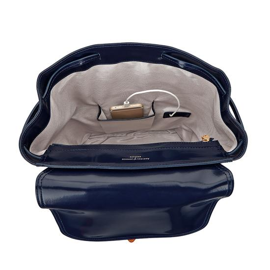 Oxford Backpack in Blue Moon Polish from Aspinal of London