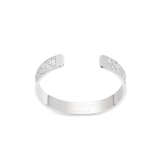 Cleopatra Skinny Cuff Bracelet in Silver Python Print from Aspinal of London