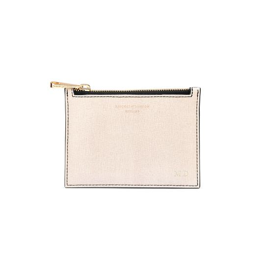 Small Essential Flat Pouch in Monochrome Mix from Aspinal of London