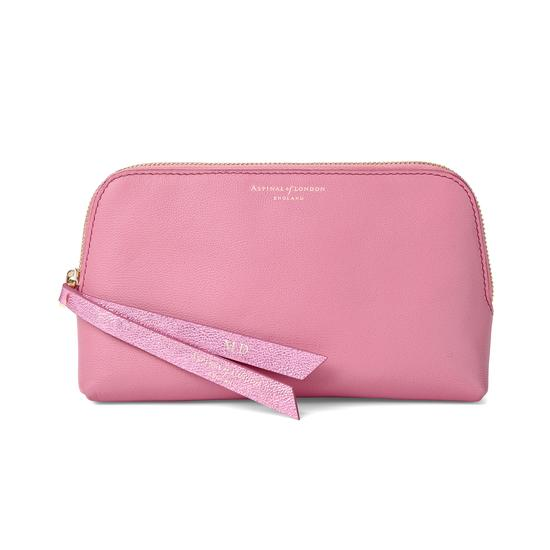 Small Essential Cosmetic Case in Blossom Kaviar from Aspinal of London