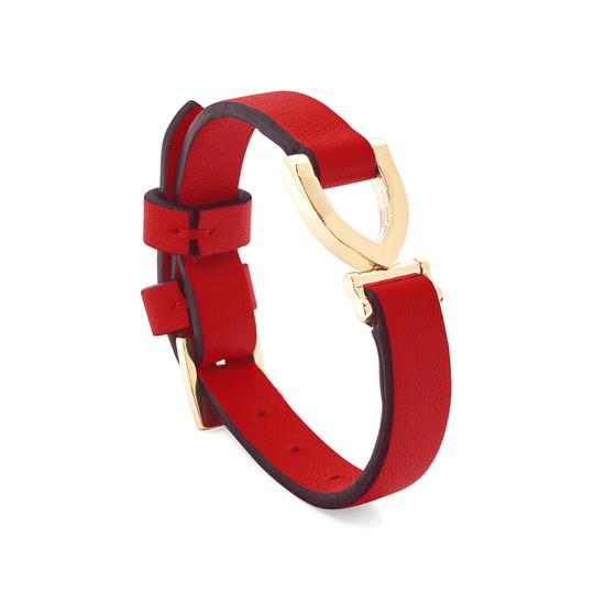 Stirrup Bracelet in Smooth Scarlet from Aspinal of London