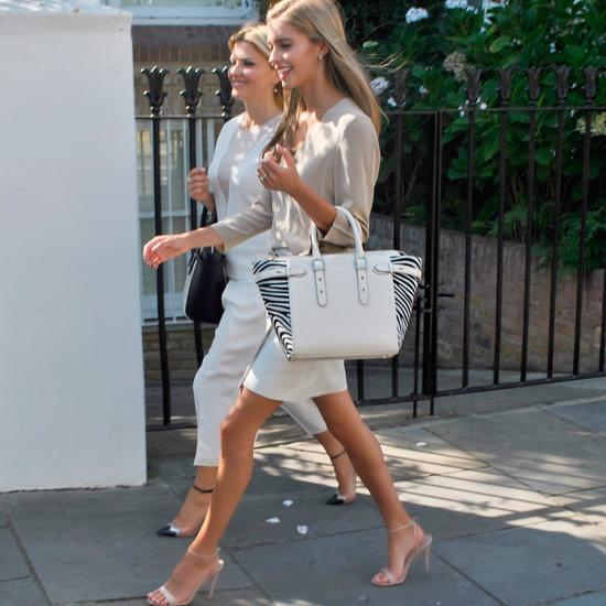 Midi Marylebone Tech Tote in Ivory & Zebra Haircalf from Aspinal of London
