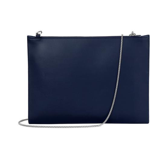 Soho Clutch in Iridescent Dragonfly & Smooth Navy from Aspinal of London