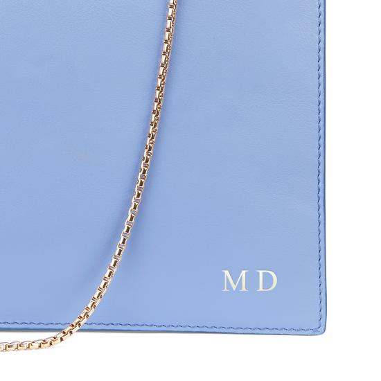 Soho Clutch in Smooth Misty Blue from Aspinal of London