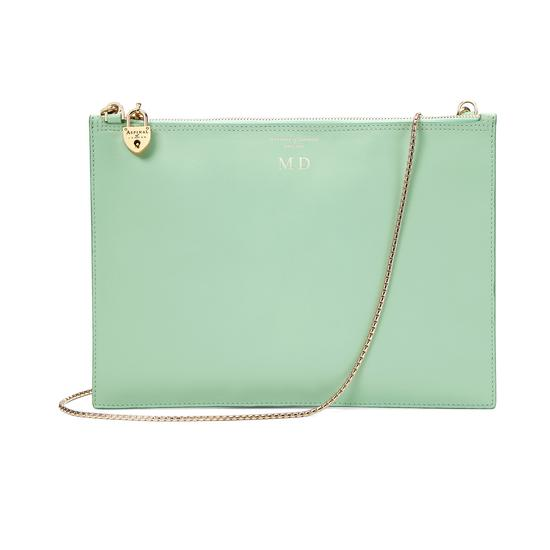 Soho Clutch in Smooth Peppermint from Aspinal of London