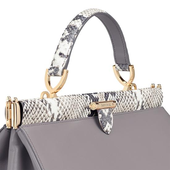 Small Florence Frame Bag in Chanterelle & Python Print from Aspinal of London