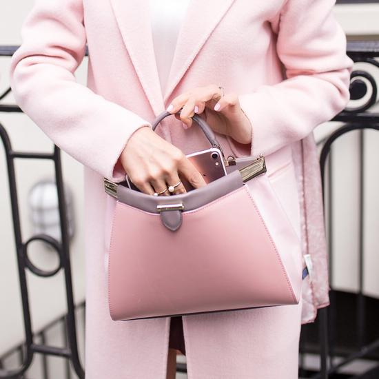 Small Florence Frame Bag in Dusky Pink, Rose Dust & Chanterelle from Aspinal of London