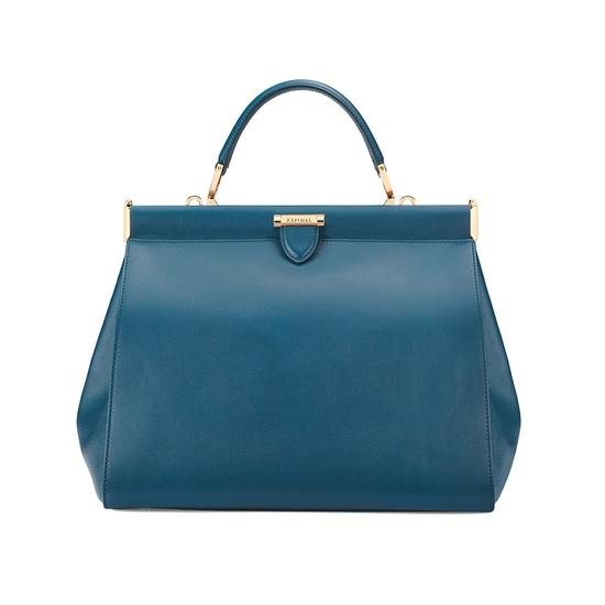 Large Florence Frame Bag in Peacock Kaviar from Aspinal of London