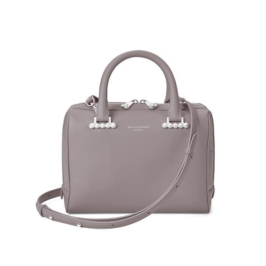 Mini Pearl Bowling Bag in Smooth Chanterelle from Aspinal of London