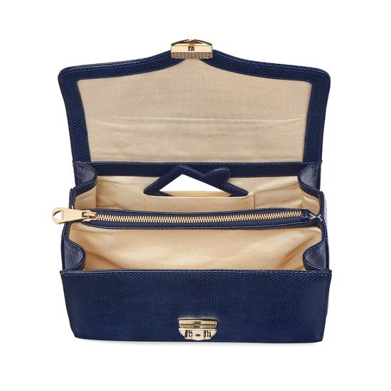Mayfair Bag in Midnight Blue Lizard from Aspinal of London