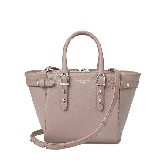 Mini Marylebone Tote in Soft Taupe Pebble from Aspinal of London