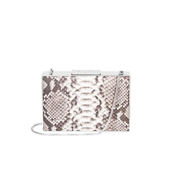 Scarlett Box Clutch in Natural Python from Aspinal of London