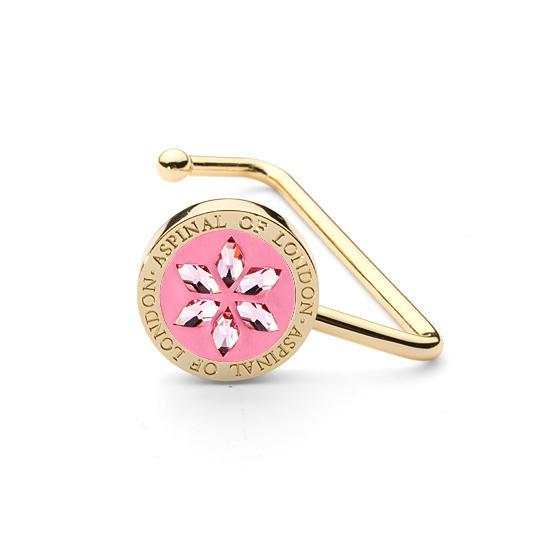 Aspinal Handbag Hook in Candy Pink Patent & Light Rose SWAROVSKI ELEMENTS from Aspinal of London