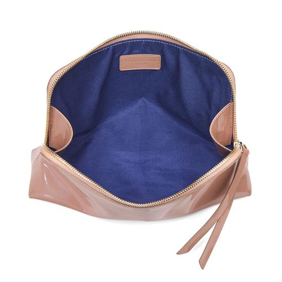 Large Essential Cosmetic Case in Rose Gold Patent from Aspinal of London