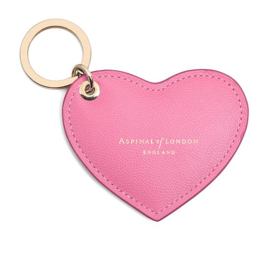 Heart Key Ring in Blossom Kaviar from Aspinal of London