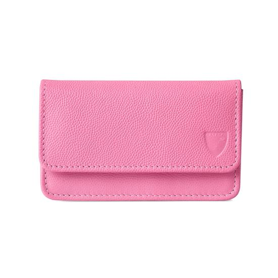 Business & Credit Card Case in Blossom Kaviar from Aspinal of London