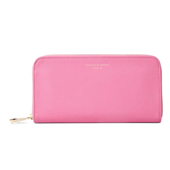 Continental Clutch Zip Wallet in Blossom Kaviar from Aspinal of London