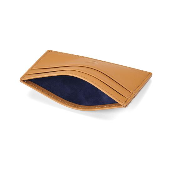 Slim Credit Card Case in Camel Pebble from Aspinal of London