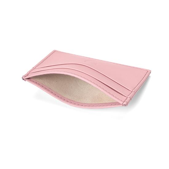 Slim Credit Card Case in Blush Pink Nappa from Aspinal of London