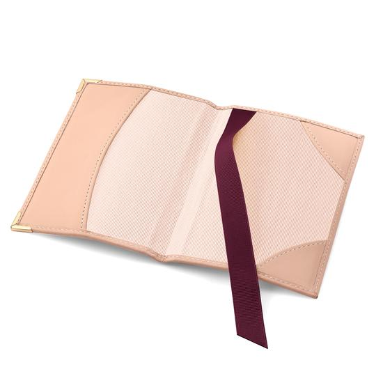 Passport Cover in Peach Kaviar from Aspinal of London
