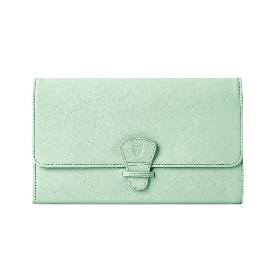 Classic Travel Wallet in Peppermint Kaviar from Aspinal of London