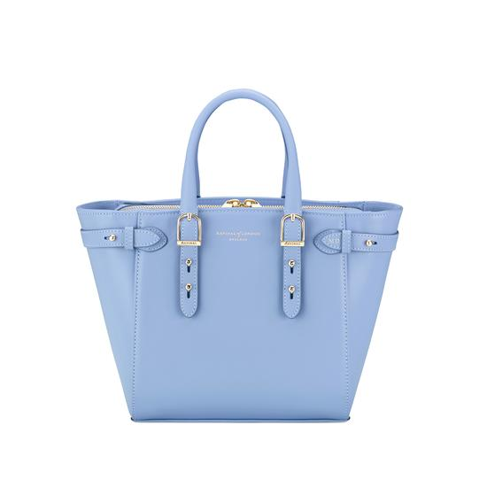 Mini Marylebone Tote in Smooth Misty Blue from Aspinal of London