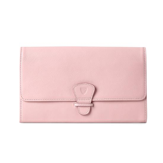 Classic Travel Wallet in Blush Pink Nappa from Aspinal of London