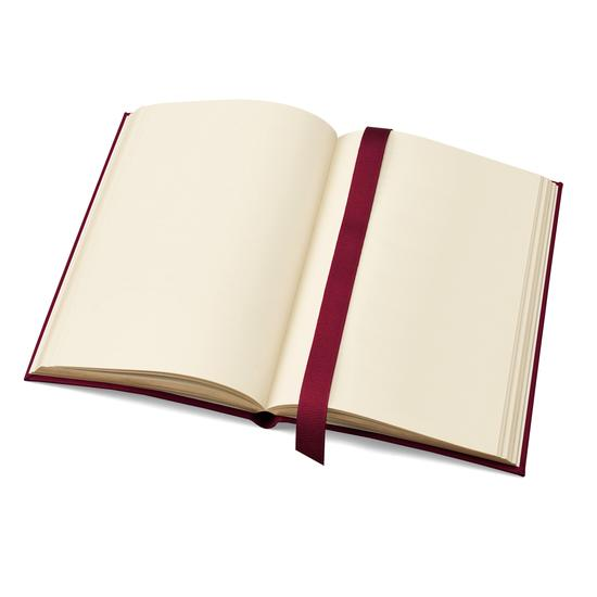A6 Leather Journal in Smooth Red with Plain Pages from Aspinal of London