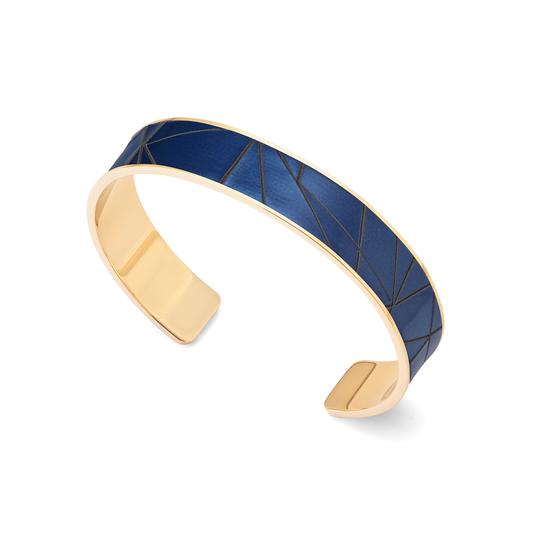 Cleopatra Skinny Cuff Bracelet in Navy Infinity from Aspinal of London