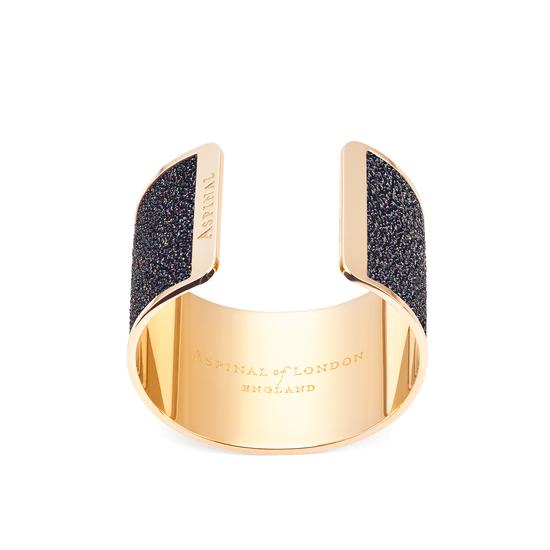 Minerva Cuff Bracelet in Black Multi Sparkle from Aspinal of London
