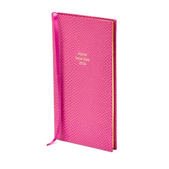 Aspinal Social Diary in Raspberry Lizard from Aspinal of London