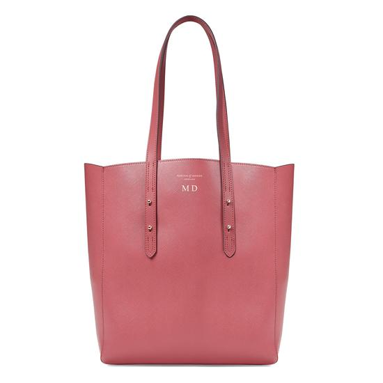 Aspinal Essential Tote in Blusher Saffiano & Cream Suede from Aspinal of London