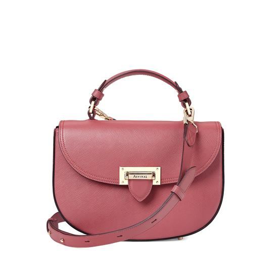 Letterbox Saddle Bag in Blusher Saffiano from Aspinal of London
