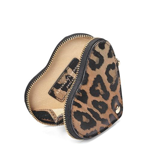 Heart Coin Purse in Digital Leopard Print from Aspinal of London