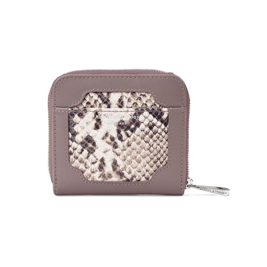 Marylebone Mini Purse in Smooth Chanterelle & Natural Python Print from Aspinal of London