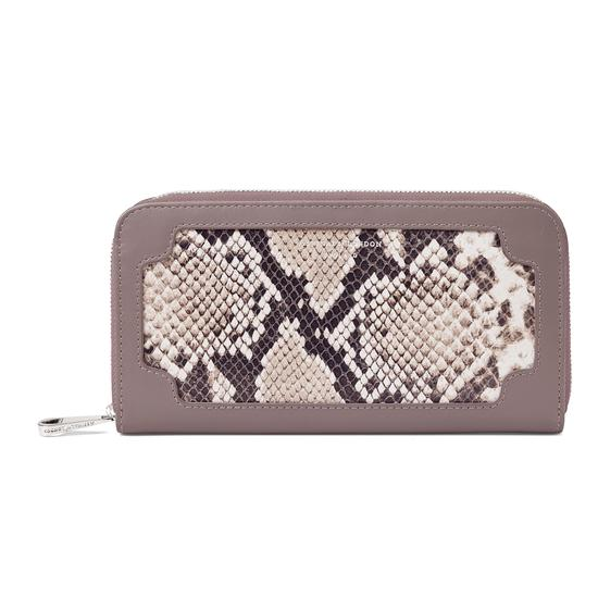 Marylebone Purse in Smooth Chanterelle & Natural Python Print from Aspinal of London