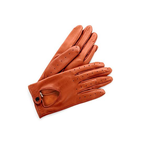 Ladies Leather Driving Gloves in Tan from Aspinal of London