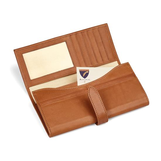 London Ladies Purse Wallet in Smooth Natural Tan from Aspinal of London