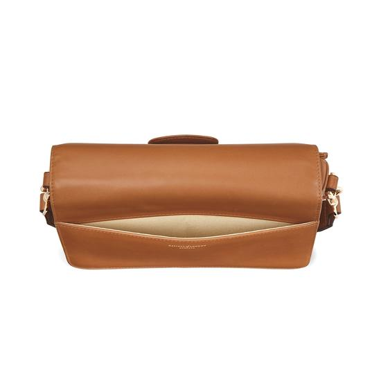 Pegasus Shoulder Bag in Smooth Natural Tan from Aspinal of London